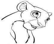dessin nala facile roi lion dessin à colorier