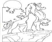 le roi lion 4 dessin à colorier