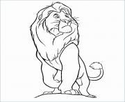 la garde du roi lion king dessin à colorier