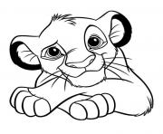 le roi lion 2019 simba dessin à colorier