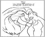 simba et nala adulte roi lion dessin à colorier
