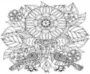 des fleurs et des papillons pour adulte art therapie dessin à colorier