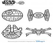 star wars vaisseaux emoji dessin à colorier