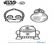 Coloriage star wars personnages emoji 2