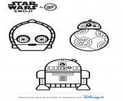 star wars personnages emoji 2 dessin à colorier