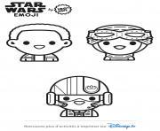 star wars pilotes emoji dessin à colorier