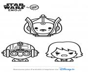 Coloriage star wars emoji