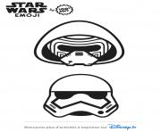 Coloriage star wars stormtrooper emoji