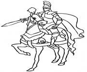 chevalier garcon 6 ans dessin à colorier