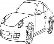 voiture de luxe garcon dessin à colorier