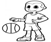 basket garcon sportif dessin à colorier