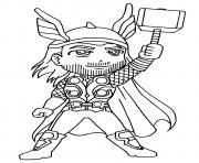 garcon super heros thor dessin à colorier