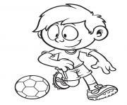 garcon 10 ans foot dessin à colorier