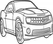 voiture camaro garcon dessin à colorier