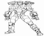 garcon super heros robot dessin à colorier
