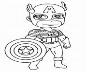 Coloriage garcon super heros capitaine america
