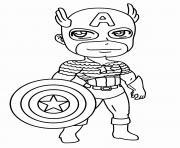 garcon super heros capitaine america dessin à colorier