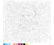 Coloriage mystere disney princesse fille
