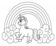 licorne arc en ciel dessin à colorier