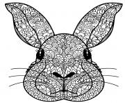 tete lapin manda dessin à colorier