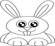 Coloriage lapin mignon dessin