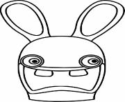 tete lapin cretin dessin à colorier
