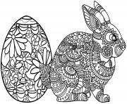 lapni paques mandala dessin à colorier