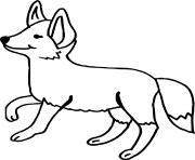 renard avec un sourire dessin à colorier