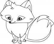 renard arctique dessin à colorier