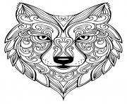 adulte renard mandala dessin à colorier