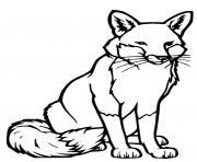 renard vecteur realiste dessin à colorier