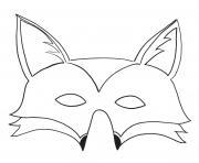masque de renard dessin à colorier