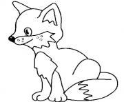 petit renard dessin à colorier