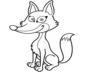 renard joyeux facile enfant dessin à colorier
