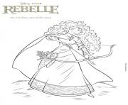 Coloriage disney princesse merida la rebelle
