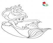 disney princesse ariel la petite sirene dessin à colorier