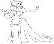 disney princesse mulan dessin à colorier