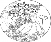 Coloriage disney princesse belle