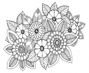 fleur vegetation fleural adulte dessin à colorier