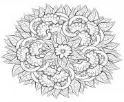 mandala fleurs pour adulte nature dessin à colorier