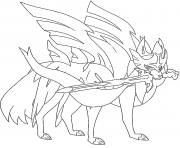 Zacian Lame Brillante Pokemon Legendaire dessin à colorier