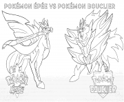 Pokemon Epee Pokemon Bouclier 2019 dessin à colorier