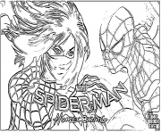 Coloriage spider man home coming silk