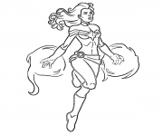 Coloriage Captain Marvel Fire by Carol Danvers