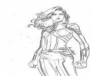 Coloriage captain marvel superheros dessin