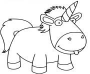 licorne drole amusante blague dessin à colorier