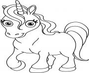 licorne kawaii princesse facile dessin à colorier
