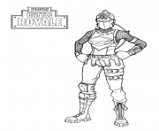 Coloriage fortnite battle royale red knight