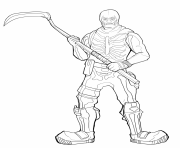 Coloriage fortnite skeleton skin