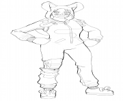 Coloriage bunny brawler fortnite skin